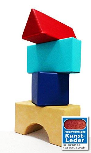 Unbekannt Softbausteine Set Großbausteine aus Schaumstoff Kunstleder Bauklötze, weiche Bausteine, Riesenbausteine, Spielpolster