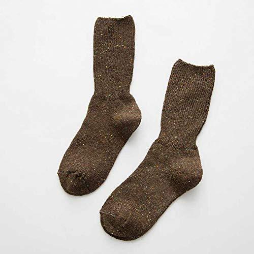 AYANGYU Damen Winter-Socken für Herbst/Winter, warm, einige Garndesign-Socken für Damen, hochwertig, einfarbig, für Damen, 3 Paar gemischt B