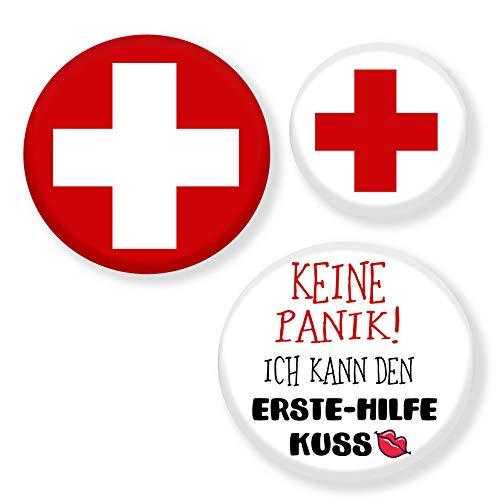 Polarkind Krankenschwester Kostüm Set Anstecker Flirt Accessoire Karneval rotes Kreuz