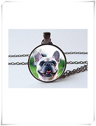 Collar de bulldog Francés Frenchie Bulldog joyas Bulldog colgante de joyería)