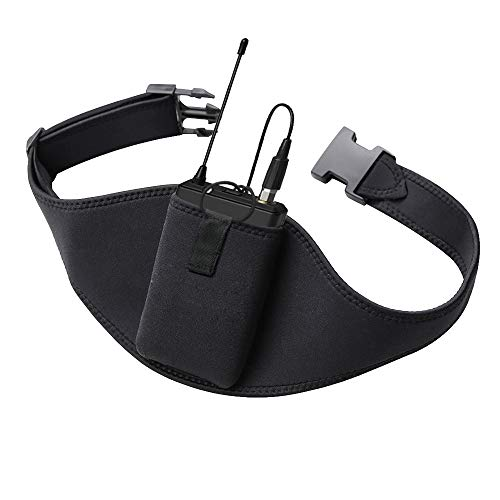 IRASPIN Mic Belt - Microphone Belt with Innovative Rubber Band Lock - Improved Adjustability Comfortability Durability For Fitness Instructors, Fitness Class,Public Speaking,Theatre,Pilates Teachers