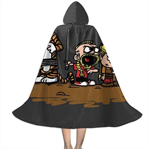 NUJSHF Calvin And Hobbes Vikings Ragnar Lothbrok - Capa con capucha unisex para Halloween, Navidad, fiestas, disfraces