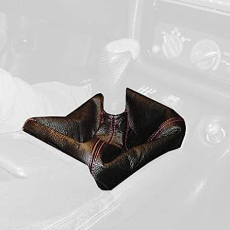 Sierra Leather-Black Thread RedlineGoods Shift Boot Compatible with Chevrolet Camaro 1993-96