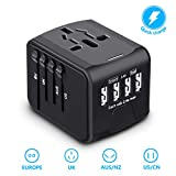 BabyUnion Universal Travel Adapter-Smart High Speed,International Power Adapter with 4 USB Charger Ports,European