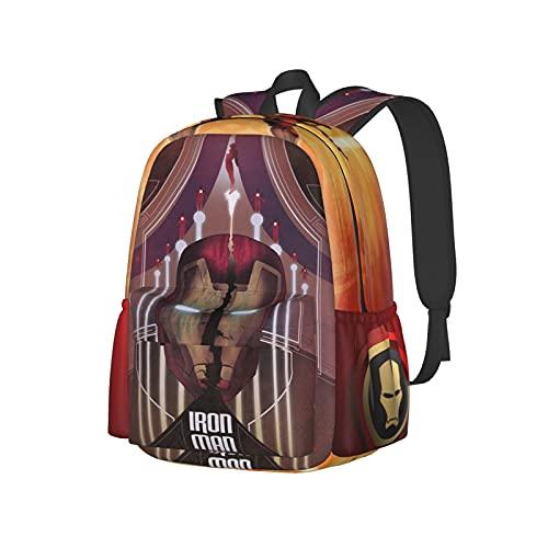 Unisex Schulrucksack Taschen 3D Druck Ir_On Poster M_An Funny Wandern Reisen Rucksack Laptop Daypacks, Schwarz3, One size