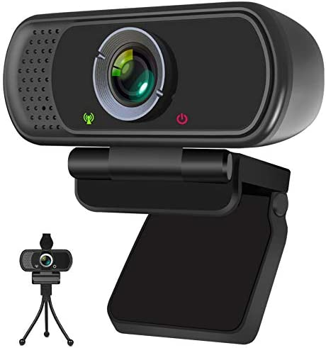 Webcam HD Webcam 1080P with Privacy Shutter and Tripod Stand Pro Streaming Web Camera with Microphone product image