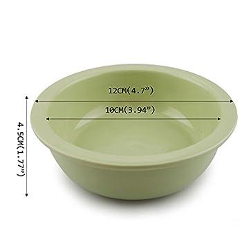 Chiens Gamelles et distributeurs Bol Bowl Table Accessoires Céramique Pet Food Bowl (Peut être utilisé Seul) Vert Chiens Gamelles (Color : White)