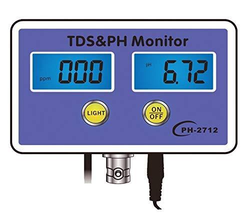 HYLH Aquarium Wasserqualitätsdetektor TDS & PH Monitor Aquarium Langzeitmonitor PH Tester Meter