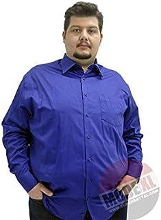 Mode XlBüyük Beden Erkek Klasik Uzun Kollu Pamuk Saten Gömlek K