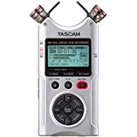 Tascam DR-40X Four-Track Digital Audio Recorder and USB Audio Interface (Silver)