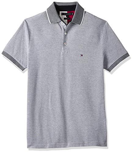 Tommy Hilfiger Herren Th Cool Oxford Regular Polo Poloshirt, Desert Sky, M