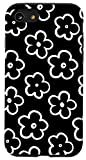 iPhone SE (2020) / 7 / 8 Cute Flower Pattern Wildflower Black and White Floral Modern Case