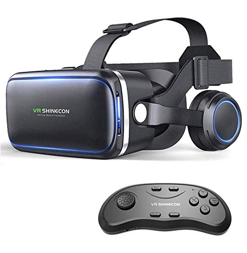 Virtual Reality Headset - VR SHINECON 3D Glasses for Movies, Video, Games - VirtuReality Glasses VR Goggles for iPhone, Android and Other Phones Within 4.7-6.2 inch
