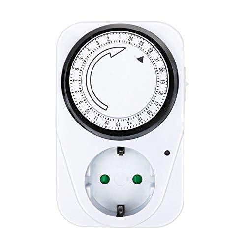ExtraStar Enchufe eléctrico temporizador mecánico de 24 horas 230V 16A Max:3680W …