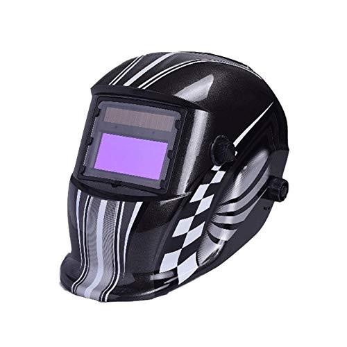 Automatische Dimmung Solar elektrische Schweißmaske einstellbare große Fenster Schweißhelm Argon Lichtbogenschweißen Schutzmaske-Black_96 * 48