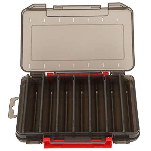 Emoshayoga Mehrfachaufbewahrung Angelbox Befestigung Hauptsächlich transparenter Deckel Köder Aufbewahrungsbox Köderbox Einfach zum Angeln