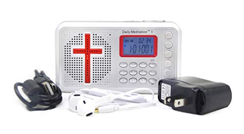 Daily Meditation 1 NIV Audio Bible Player - New International Version Electronic Bible (with Rechargeable Battery, Charger, Ear Buds and Built-in Speaker)