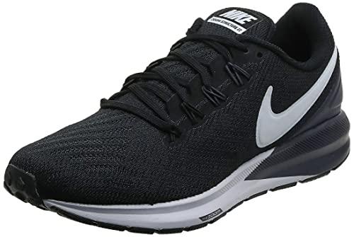 Nike Women's Air Zoom Structure 22 Running Shoe (12, Black/White/Gridiron)