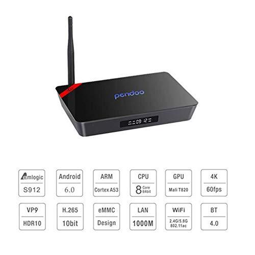 LOISK X92 Box TV Android 6.0 [Rom 2 GB RAM 16 GB] Box Android con Amlogic S912 Octa-Core Arm Cortex-A53 64 bit Dual WiFi/USB 3.0/4K 3D HD