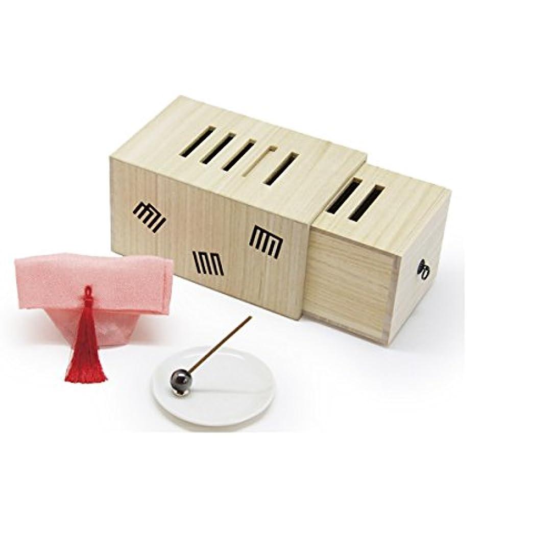 物理的な温度計レコーダー桐製 源氏香枕