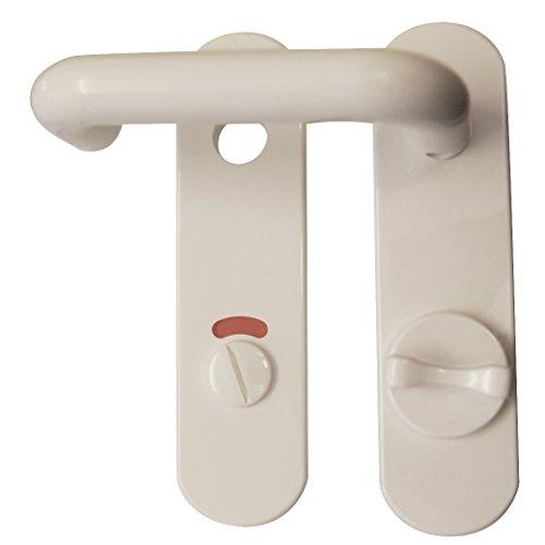 Manilla para puerta de nailon Alpertec de desagüe para puertas de los baños de inodoro con pestillo de bloqueo manija/manija picaporte puerta, blanco, 40131830K1