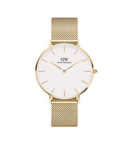 Daniel Wellington Unisex-Uhren Analog Quarz 36 Gold/Weiß 32013510
