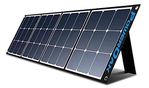 PowerOak 200W monokristallines faltbares und tragbares Solarpanel für Schuppen, Wohnmobile und Camping, Gebühr für tragbaren Solargenerator AC200P / AC50S / EB150 / EB240 / PS5B / AC30