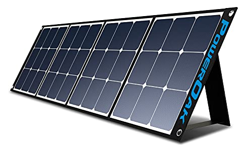 PowerOak 200W monokristallines faltbares und tragbares Solarpanel für Schuppen, Wohnmobile und Camping, Gebühr für tragbaren Solargenerator AC200P, AC50S, EB150, EB240, PS5B, AC30