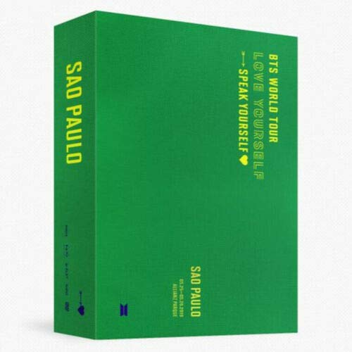 BTS WORLD TOUR 'LOVE YOURSELF:SPEAK' SAO PAULO DVD 2 DISC(DVD CD)+Book+Folded Poster(On pack)+Book Mark+1p Store Gift+TRACKING CODE [PRE ORDER]