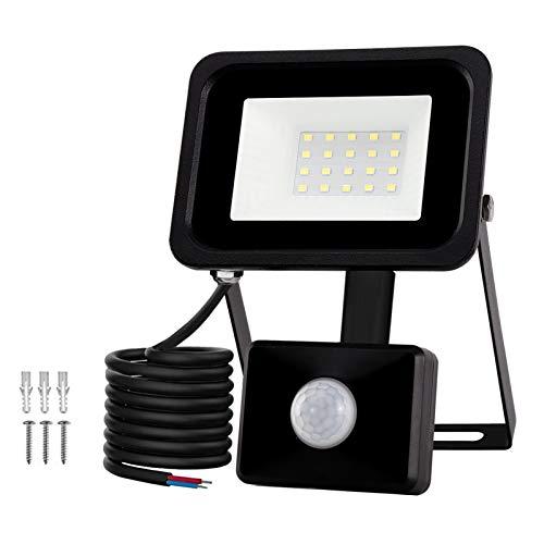 Huamai Led Motion Sensor Flood Light Outdoor ,20W 1800LM,Pir Upgraded Sensitive Security Lights,Adjustable Sensing Mode, Lighting time, Sensing Distance Adjustable.for Garage,Porch,Yard (20)