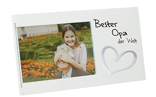 Bada Bing Bilderrahmen Fotorahmen Bester Opa Der Welt 25 x 14 cm Geschenk Edel Weiß 95