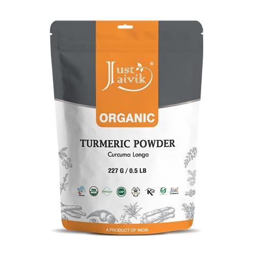 Just Jaivik 100% USDA Organic Turmeric Powder (Curcuma Longa) - Certified Organic by OneCert Asia...