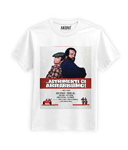 ARTIST T-Shirt Altrimenti Ci arrabbiamo Film Bud Spencer Terence Hill (XL, Bianco)