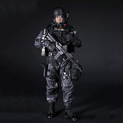 1/6 NAVY COMMANDING OFFICER Military Soldier Action Figures Toy Statue Model Handmade Collection PVC Environmental Protection Materials Dolls Ornaments Exquisite Birthday Gifts for Fans And Friends