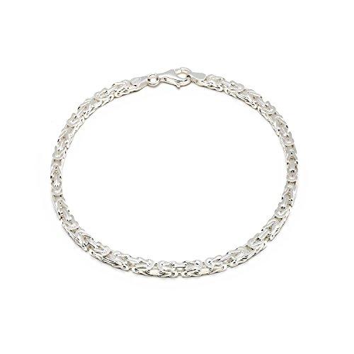925 Silberarmband: Königsarmband Silber 3,5mm 19cm - KA-35-19