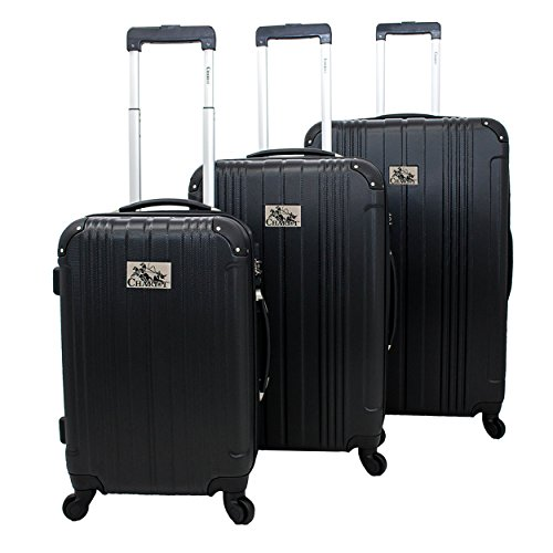 Chariot Monet 3-piece Hardside Expandable Lightweight Spinner Luggage Set-Black, One Size