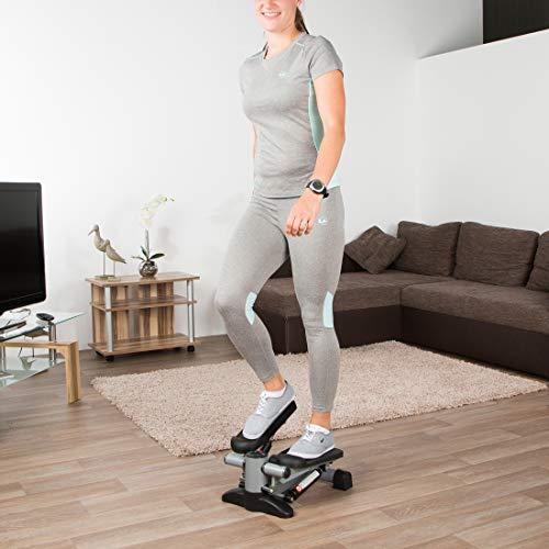 Ultrasport Stepper Up Down pour l'aérobic et fitness, mini-stepper avec console et larges marches, home trainer pour l'entraînement des abdominaux, jambes et fessiers, pour la maison et le bureau