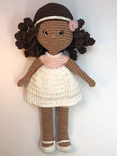 Peluche poupée 25cm crochet en coton pour enfant