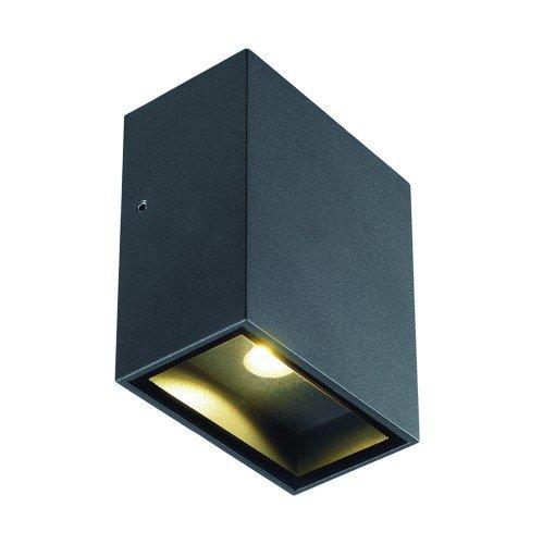 LED Wandleuchte QUAD 1 XL, eckig, 4,5W, COB LED, 3000K, 110°, anthrazit EEK: A++ - A
