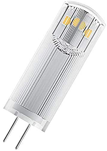 OSRAM Lot de 10 Ampoules capsules LED | Culot G4 | Blanc chaud | 2700 K | 1,8 W équivalent 20 W | clair | LED STAR PIN G4 12 V