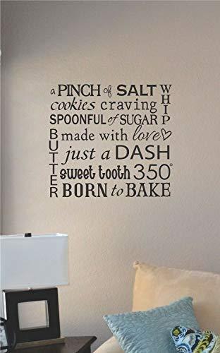 Lplpol Een snufje zout koekjes verlangen Vinyl muur Art Decal Sticker Thuis Huis Decor