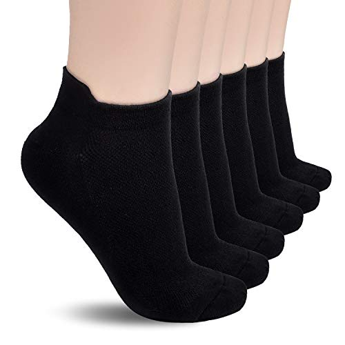 TECHTIC Low Cut Running Socks Ankle Athletic Socks Breathable Comfort Tab for Women Men Athletic Sport
