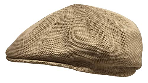 Broner Mens Polyester Knit Berkshire Ascot Ivy Cap, Tan, Medium