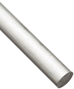 6061 Aluminum Round Rod Unpolished  Mill  Finish Extruded T6511 Temper ASTM B221 3/4  Diameter 72  Length