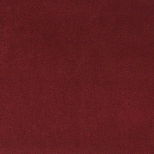 A0000O Burgundy Authentic Cotton Velvet Upholstery Fabric by The Yard