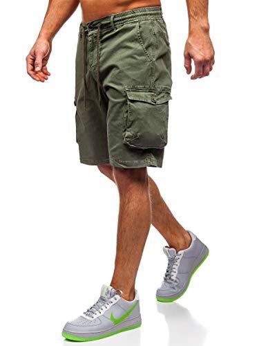 BOLF Herren Cargo Shorts Kurze Hose Sommer Bermudas Outdoor Jogginghose Sporthose Basic Cargohose H&H 5011 Khaki 28 [7G7]
