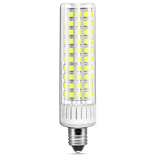 E11 LED Bulb 8.5W,100W-120W Equivalent Halogen Bulbs For Mini Chandelier Base Ceiling Fan Light Bulbs, Dimmable Warm White 6000K