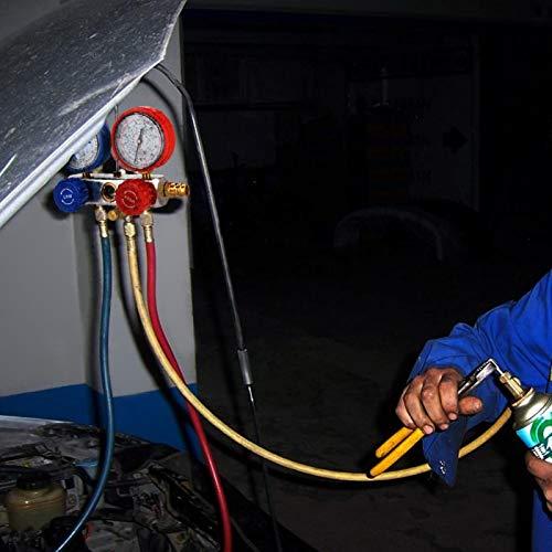 Adaptador de acoplador rápido Medidor de flúor refrigerante para kit de aire acondicionado para mejorar su rendimiento