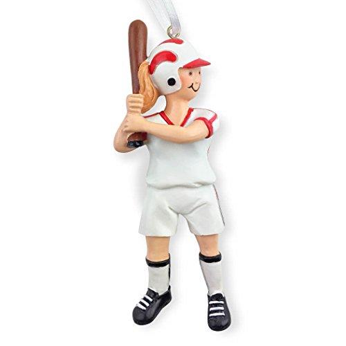 Softball Christmas Ornament   Softball Ornaments by ChalkTalk Sports   Girl   Blonde
