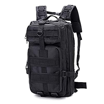 SZYT Military Tactical Backpack Daypack Bag for Hiking Camping Outdoor Sport Black
